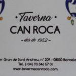 TAVERNA CAN ROCA (Sant Andreu del Palomar- BCN)