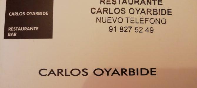 RESTAURANTE CARLOS OYARBIDE